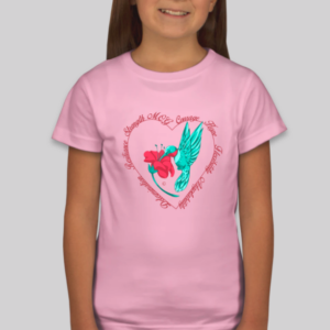 GIrls Hummingbird Shirt in Pink